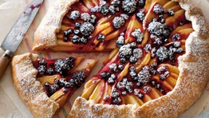 Rustic fruit tart.