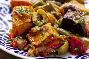 Quince and pumpkin ratatouille.