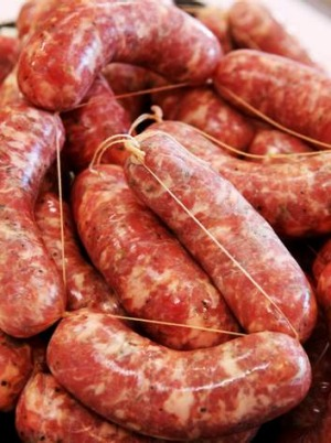 Pork and fennel sausages.