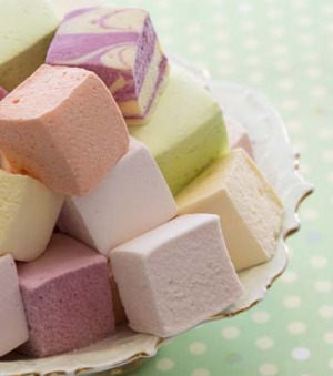 Sweetness' pastel-colour marshmallows.