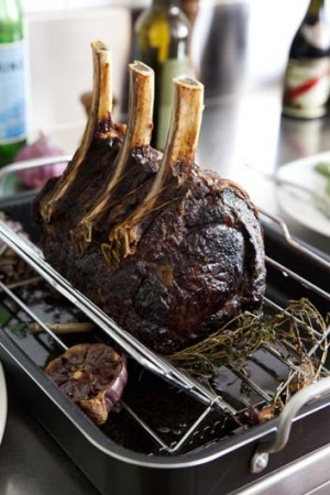 Dry-aged: A standing rib roast.