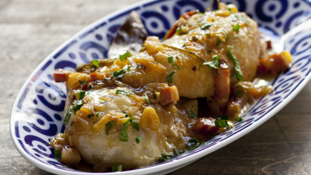 A favourite, no-fuss dinner - put all the ingredients in one pot, throw it in the oven and relax.