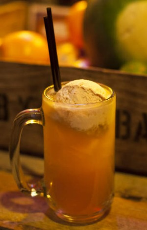 Aromatic ... the rum-and-raisin root beer float is spicy and potent.