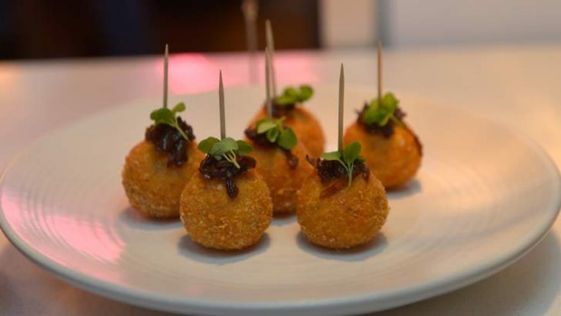 Pick up at the bar ... Crisp-shelled arancini.