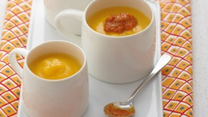 Spice up your pumpkin soup with a dollop of harissa.