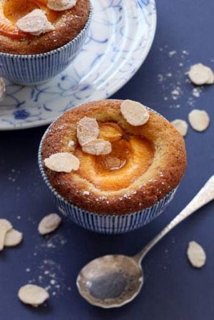 Jill Dupleix's little apricot cakes with sugared almonds (recipe below).