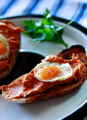 Perfect with eggs: Nduja salami on toast.