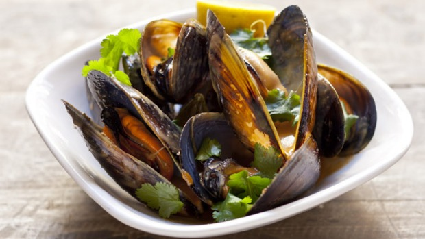 The broth in this red curry of mussels is kept quite subtle to ensure the mussel flavour cuts through.