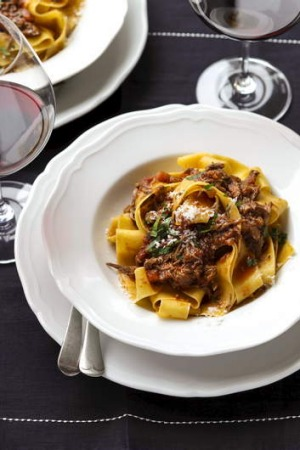 Pair with a bottle of red ... A rich duck ragu with silky pasta.