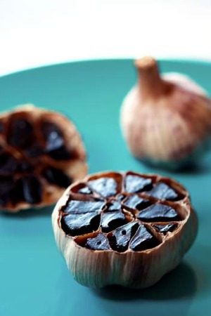 Rich in flavour: Fermented black garlic. Styling and food: Jill Dupleix.