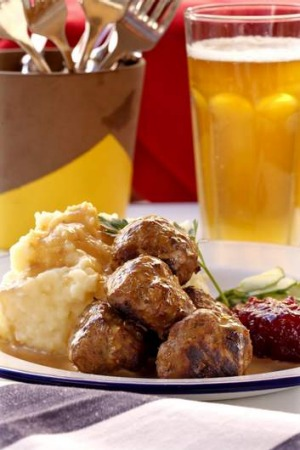 Dish of choice ... Swedish meatballs with mashed potato, onion gravy and lingonberry jam, $18.