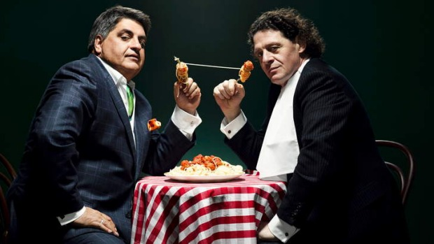 All-rounders: Food critic Matt Preston and chef Marco Pierre White on MasterChef: The Professionals.
