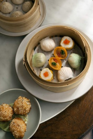 The dumplings at Mr Wong, a finalist for Restaurant of the Year and Best New Restaurant.
