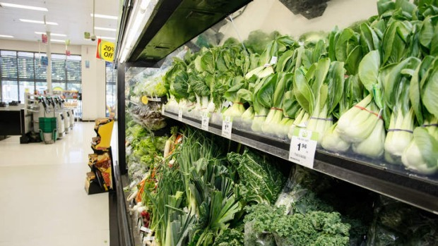 Asian greens line the aisles at Woolworths Wolli Creek this year.