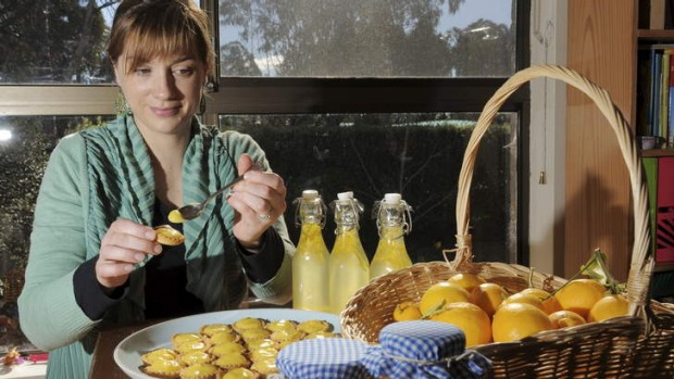 Fresh in best ... Campbell resident, Michelle McDonald, with her lemon-based foods.