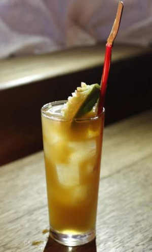 Phife Dog cocktail: Rum, lime, sugar cane, Angostura bitters, $12.