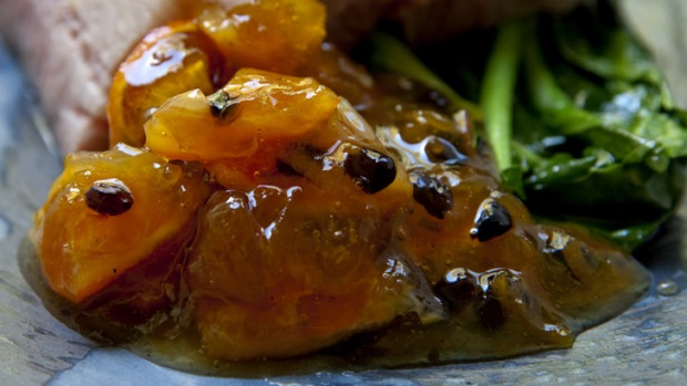 Spiced Cumquat chutney makes a great accompaniment to pork.