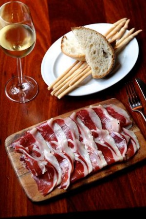 Go-to dish ... The 'pata negra' (aka lord of the pigs) acorn fed Iberian jamon.