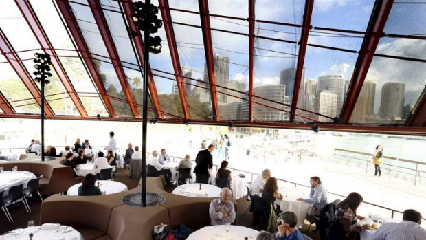 Harbour side dining: Guillaume at Bennelong.