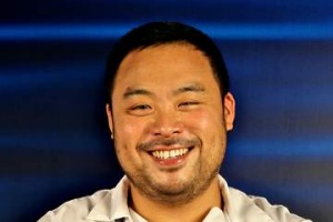 Korean-American chef/owner of the Momofuku restaurant group - DAVID CHANG , including Momofuku Seiobo in Sydney. SHD ...