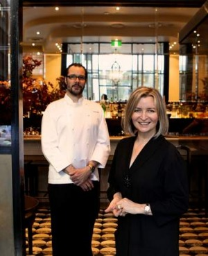 A night to celebrate ... Vicki Wild and Martin Benn from Sepia, named restaurant of the year.