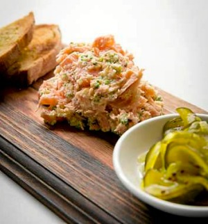 Frank Camorra's smoked salmon rillettes.