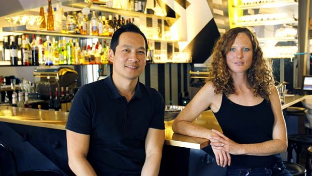 Spicing things up: Red Rabbit owner Phillip Haw with restaurant manager Abigail Meinke.