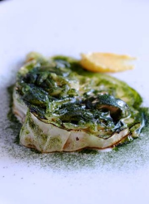 Go-to dish: Cabbage, mussel butter, marrow, pomelo.