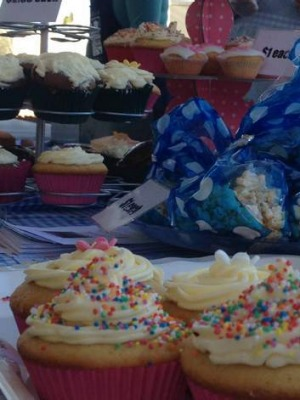Delights ... Cake stall at Ainslie School.