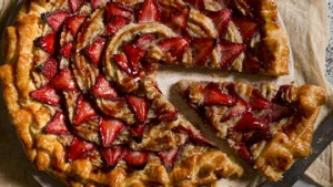 Strawberry galette (tart).