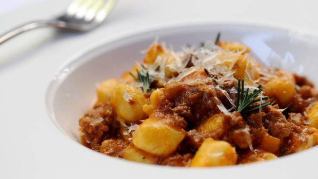 Feather-light Kipfler potato gnocchi with pork and fennel ragu.