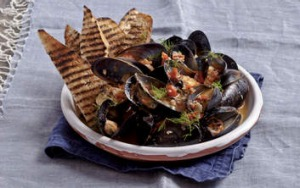 Brine and dandy: Cooking intensifies the natural saltiness of mussels' liquor.