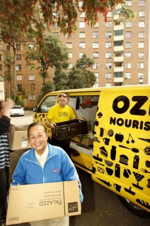 Gratefully accepted: OzHarvest deliveries are welcomed with smiles.