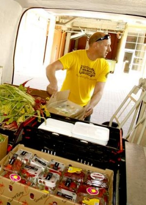 Delivering: OzHarvest gives to charities all around Sydney.