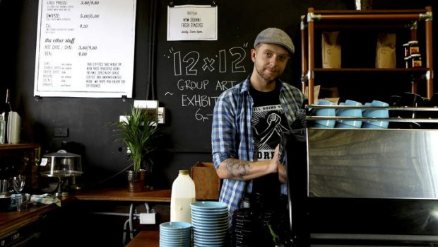 Loading Dock Espresso co-owner James Thompson is introducing the system to his coffee shop.