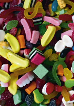 Lollies are basically pure sugar.