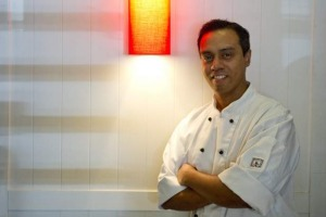 Welcoming .... Daniel Mark, head chef of the Lanterne Rooms.