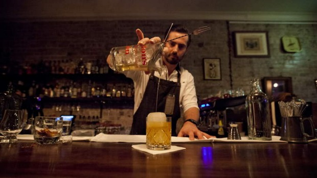 Raising eyebrows: the menu at Neighbourhood Bar includes a mix of playful concoctions and serious classics.