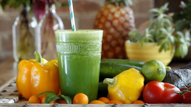 Healthy alternative: A daily green smoothie can give you a much-needed nutrient lift.