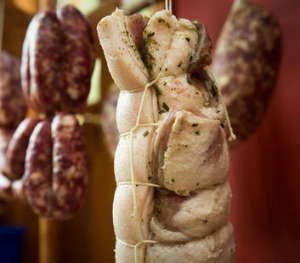 Pancetta is a dry-cured meat that comes from the Italian word for belly.