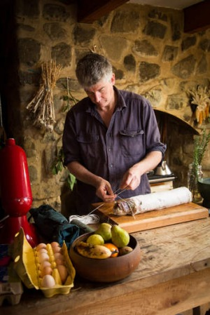 Cure all: Matthew Evans makes pancetta at home.