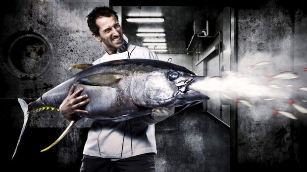 """Winner of Shoot the Chef 2013 People's Choice Award: Teodora Tinc's """"Say hello to my little friend!"""" featuring chef ..."""