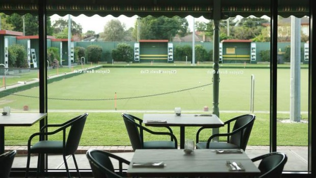 Green days: Champion's Grill offers low-key fine dining in the unlikely setting of Clayton Bowls Club.