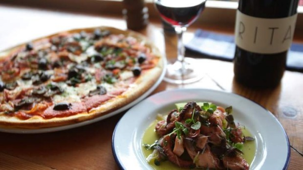 That's amore: What's not to love about simple Italian fare, such as pizza capriciossa and pickled octopus.