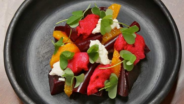 Hard to beat: The Commoner's spectacular beet salad.