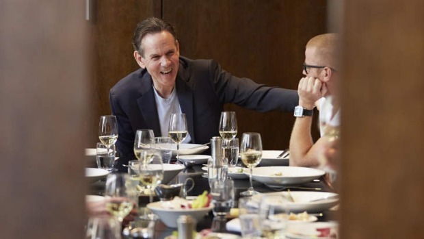 Thomas Keller lunches at Rockpool Bar & Grill with other top chefs.