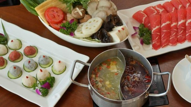 Abalone and super spicy hotpot combo.