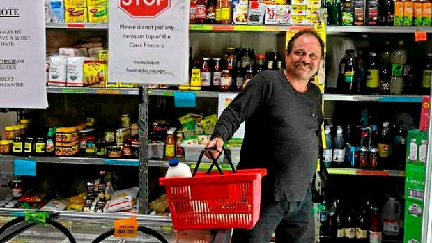 "Doing better: Cameron Morgan has relied on the Salvation Army's Surry Hills ""supermarket"" to fill his pantry and fridge."