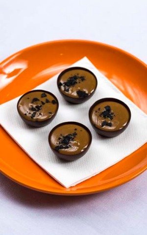 An unusual pairing ... The Masterchef pop-up combines vegemite with caramel and dark chocolate.