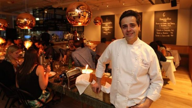 Pasta-licious: Owner-chef Eugenio Maiale at the A Tavola Bondi opening.